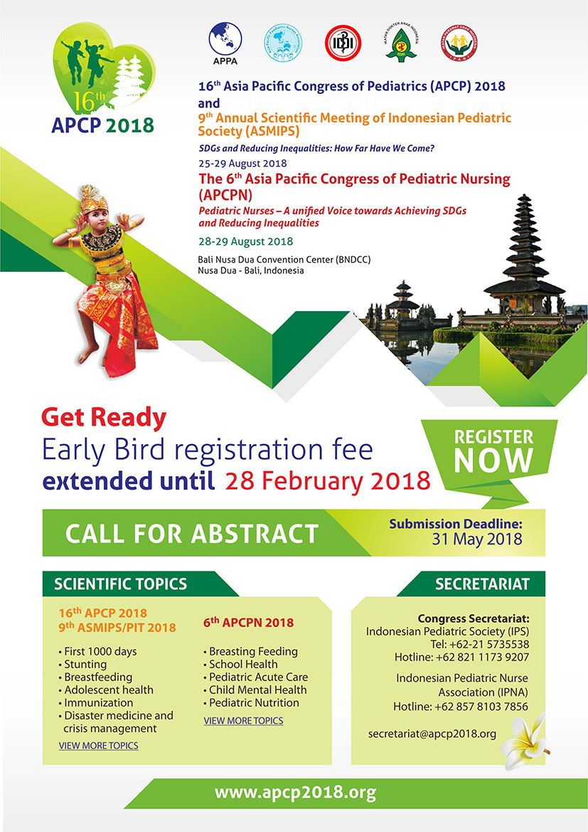 16th Asia Pacific Congress of Pediatrics (APCP) 2018
